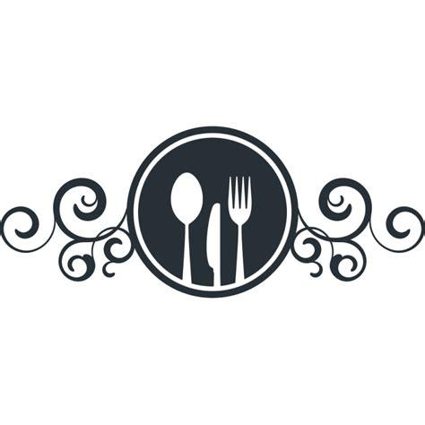 couverts de cuisine stickers enseigne avec couteau fourchette et cuillère pour