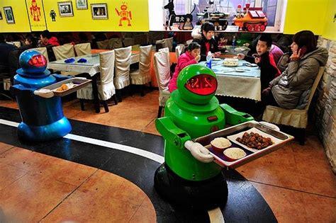 restaurants  china roll  robot waiters  kitchen staff