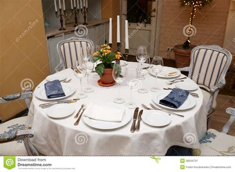 restaurant table settings table setting in a restaurant stock image image of crystal celebration 36044731