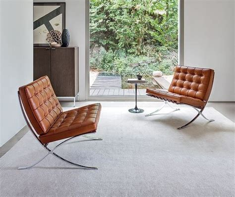 This elegant chair has a gracefully curved frame and is made of the more expensive poli. What Goes Into Making Our Iconic Barcelona Chair Replica ...