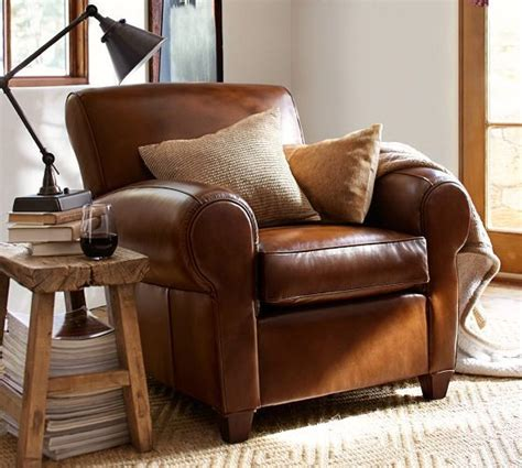 Living Room Chairs Pottery Barn by Pottery Barn Manhattan Leather Club Chair Special Order