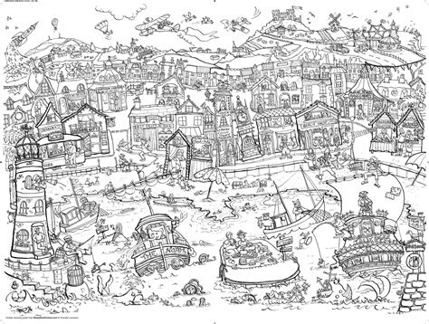 amazoncom  giant posters seaside coloring poster