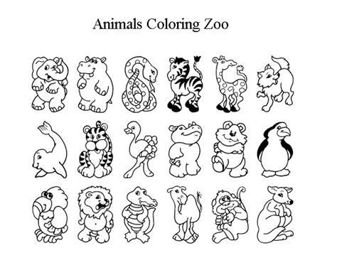 zoo coloring pages  print gianfredanet