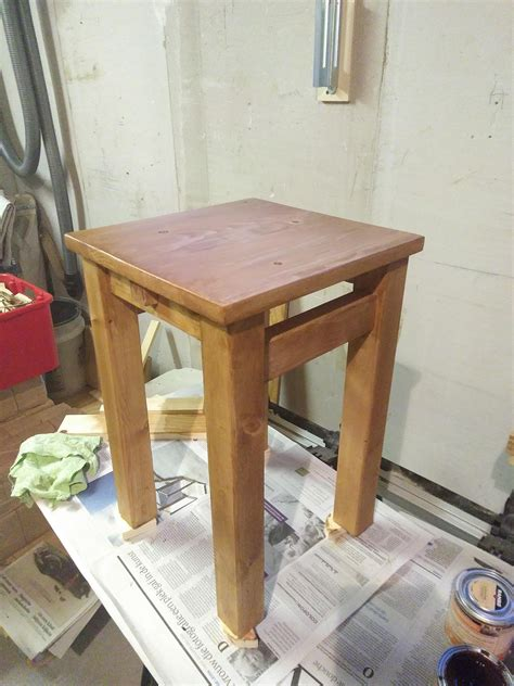 woodworking project  mortise  tenon stool