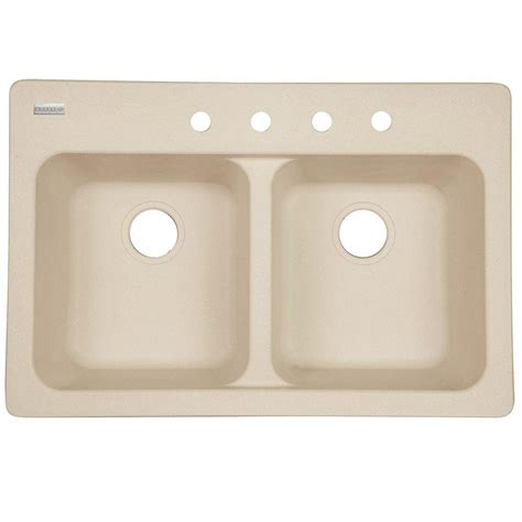 Franke Sink Mounting by Franke Dual Mount Tectonite Composite 33x22x9 4