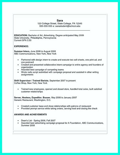 Microsoft Word 2007 Resume Template by The College Resume Template To Get A