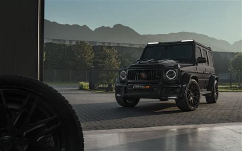Like its counterpart at the rear, the brabus component at the front replaces the production bumper. Download wallpapers Mercedes-AMG G63, 2020, tuning G-Class, luxury SUV, new black G63 ...