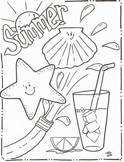 Coloring Summer Pages Designs Mkb Printable Sheets