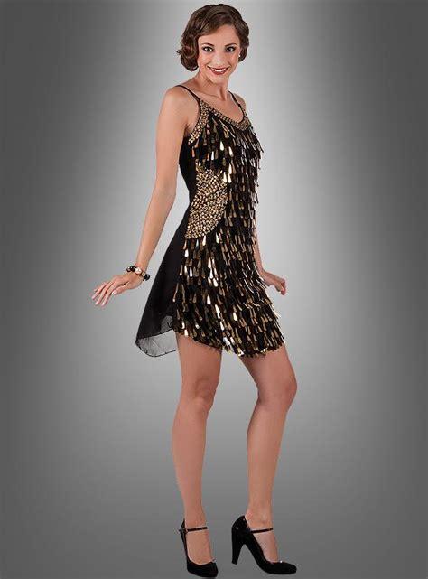 20iger jahre mode charleston paillettenkleid gold
