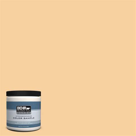 behr premium plus ultra 8 oz 320c 3 honey butter satin enamel interior exterior paint and