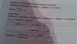 Chemie Molare Masse Berechnen : alkoholgehalt ethanol rotwein ausrechnen forum chemie ~ Themetempest.com Abrechnung