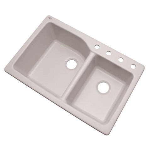 glacier bay kitchen sink glacier bay grande dual mount composite granite 35 in 4 3755