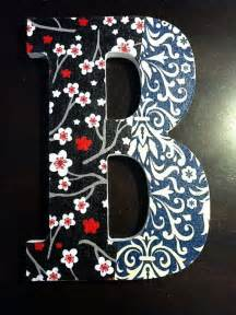 Red White and Blue Letter B