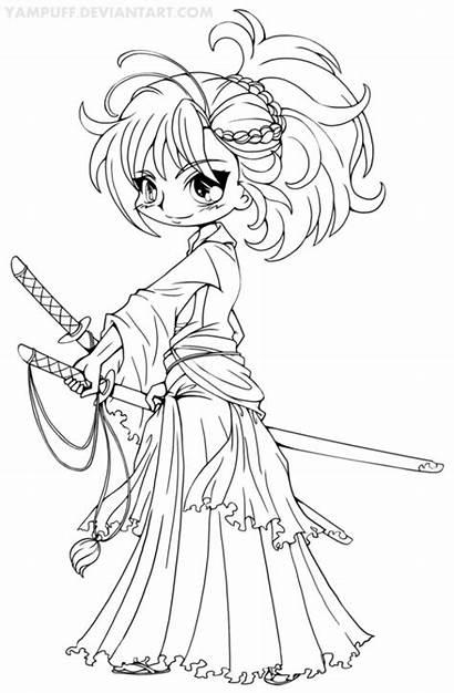 Coloring Chibi Pages Printable Yampuff Deviantart Musashi