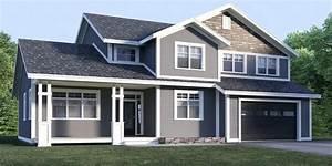 Grey Exterior House Paint Blue Gray House Blue Grey