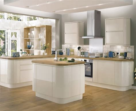 Cabinets Kitchen Ideas - bayswater gloss ivory kitchen contemporary kitchens howdens joinery