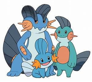 Mudkip Marshtomp and Swampert by CharmandersFlame on ...