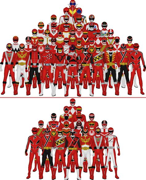 All Super Sentai And Power Rangers Reds By Taiko554 On