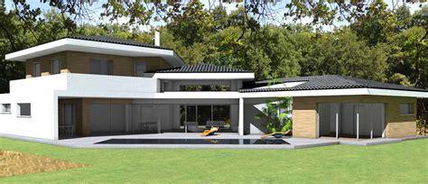 architecte maison moderne contemporaine maison contemporaine d architecte 224 toiture tuiles noires et casquettes b 233 ton 224 toulouse