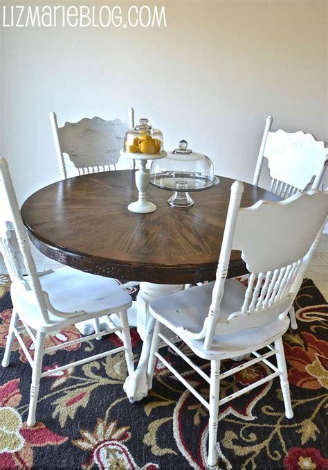 Wood Stain & White Kitchen Table     DIY   Pinterest