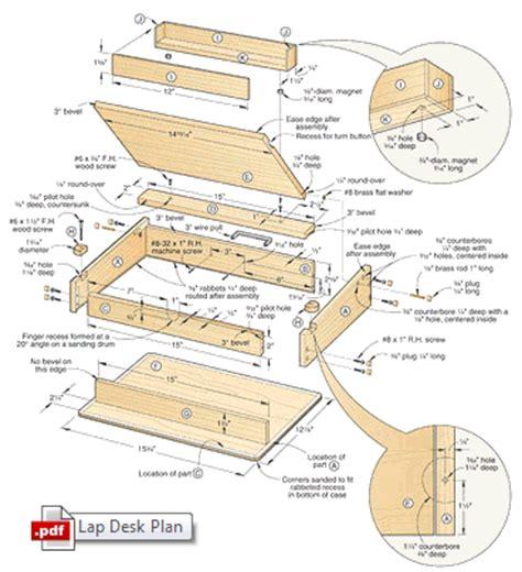 diy lap desk plans