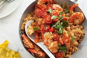 Quinoa risotto with prawns, oregano and tomatoes Recipes