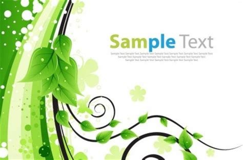 kartu ucapan bunga hijau vektor ilustrasi vektor tanaman
