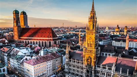 full hd wallpaper munich gothic cathedral aerial view