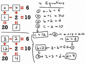 System of Equations Puzzle (SOLUTION) | Puzzles | Math ...