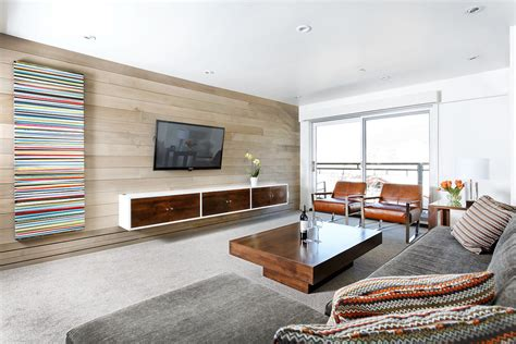 Floating Tv Cabinet Family Room Modern With Area Rug Built