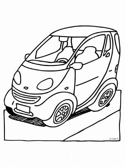 Kleurplaten Kleurplaat Smart Raceauto Bmw Fortwo Graag