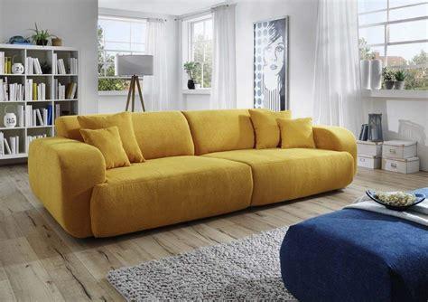 Dreams4home Big Sofa Polstersofa 'miley', Sofa, Wohnzimmer