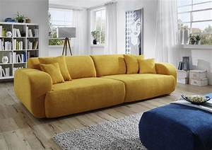 Couch Online Bestellen Günstig : dreams4home big sofa polstersofa 39 miley 39 sofa wohnzimmer gelb couch hocker blau optional ~ Bigdaddyawards.com Haus und Dekorationen