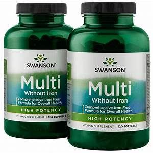 High Potency Multivitamin - Iron Free - Low Price