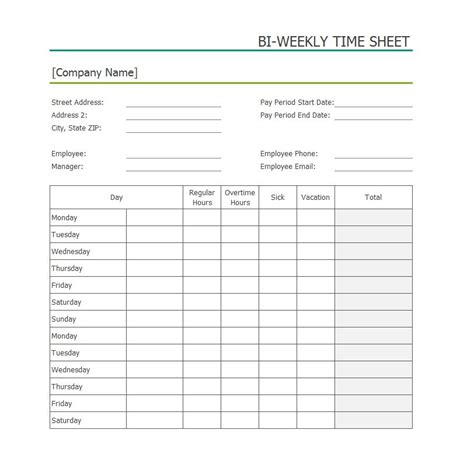 Contractor Paysheet Template Excel by 40 Free Timesheet Time Card Templates Template Lab