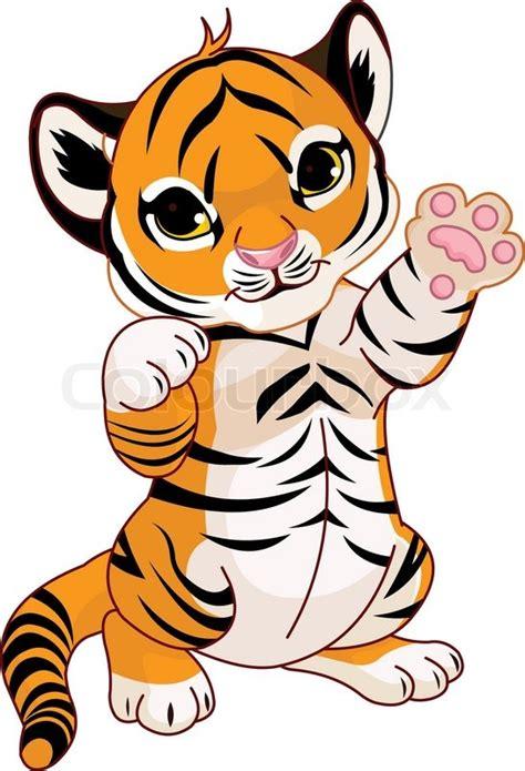cartoon cute tiger stock vector colourbox