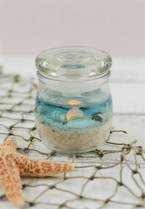 beach jar candle 2x25in battery op beach wedding favors