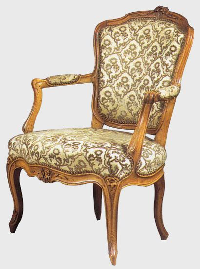 louis xv armchair with a 224 la reine backrest or cabriolet antiques gallery