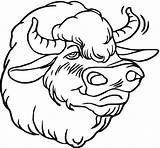 Buffalo Coloring Bison Pages Head Face Drawing Animals Smiling Wildlife Animal American Getcoloringpages Bisons Realistic Clipartmag sketch template
