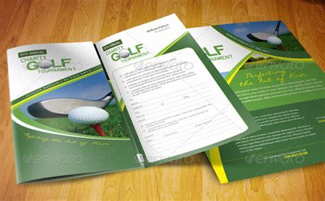 popular   premium golf brochure templates