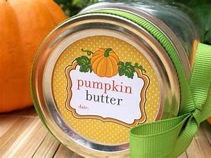 Cute Pumpkin Butter Canning Labels For Home Preserved Food
