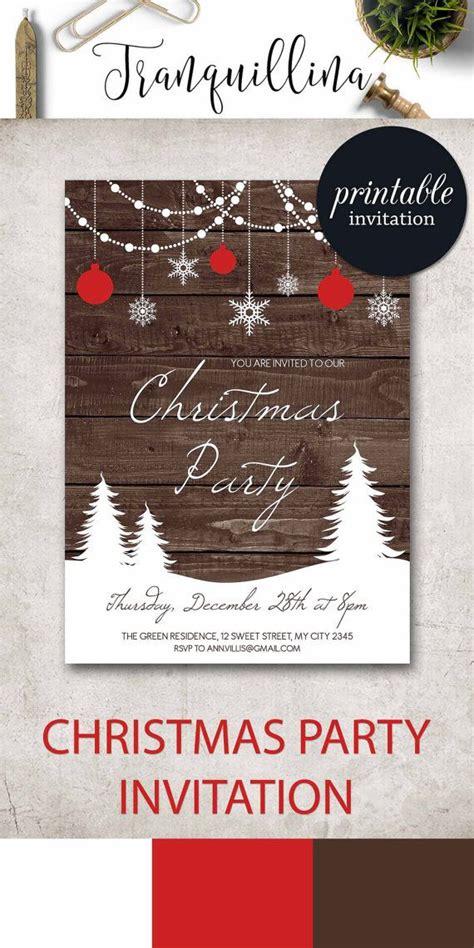 Christmas Invitation rustic Christmas Party Invites Winter
