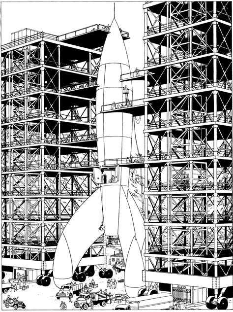 tintin destination moon books adult coloring pages page