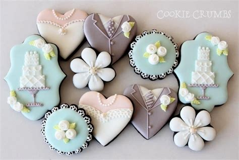 wedding themed chocolate cookies  royal icing wedding