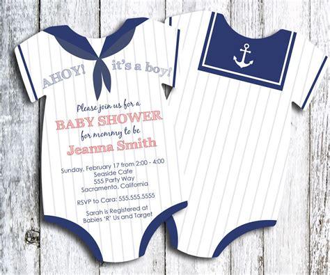 sailor ahoy   boy onesie baby shower