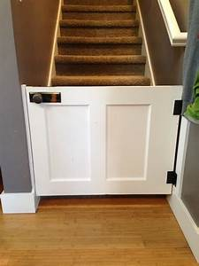 how to make a baby gate from an old wood door or a dog With making a dog door