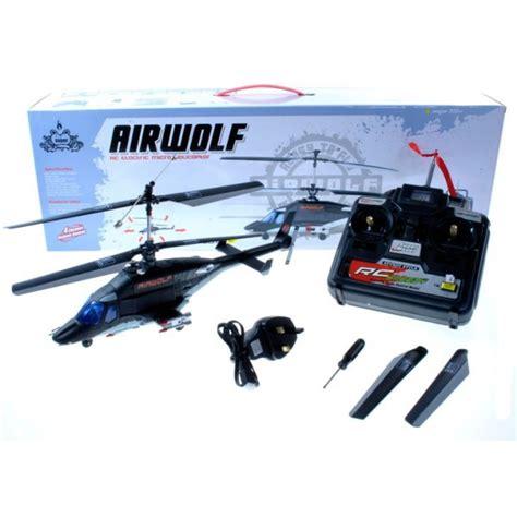 Airwolf 4ch Rc Helicopter Met Lipo Batterij
