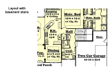 colonial style house plan  beds  baths  sqft plan