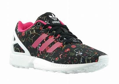 Adidas Zx Flux Flower Negro Mujer Rosa