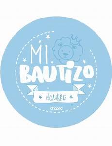 Chapas para Bautizo (azul) Chapea